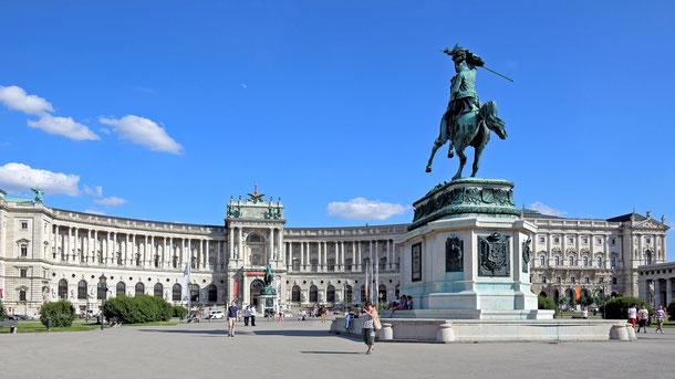 世界遺産「ウィーン歴史地区(オーストリア)」、冬の宮殿ホーフブルク、新宮殿(ノエルブルク)
