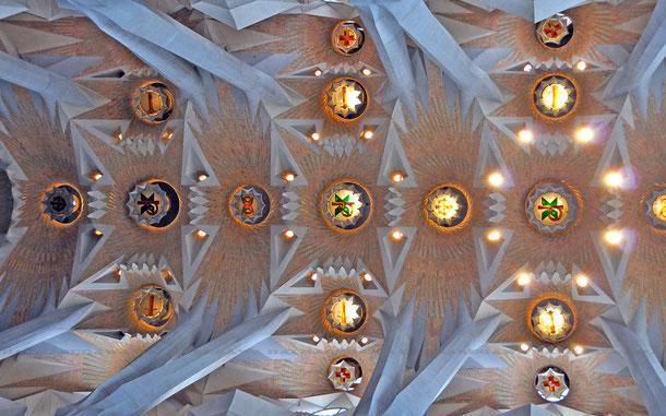 サグラダファミリア、身廊天井
