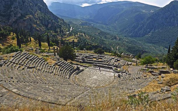 世界遺産「デルフィの考古遺跡(ギリシア)」、テアトロ