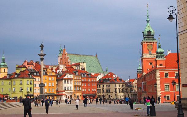 世界遺産「ワルシャワ歴史地区(ポーランド)」、王宮広場