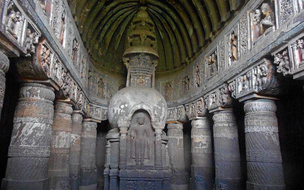 世界遺産「アジャンター石窟群(インド)」、第19窟