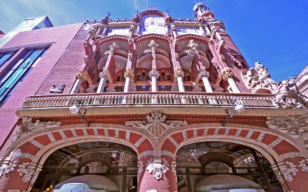 カタルーニャ音楽堂のファサード