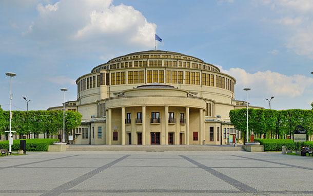 ポーランドの世界遺産「ヴロツワフの百周年記念ホール」