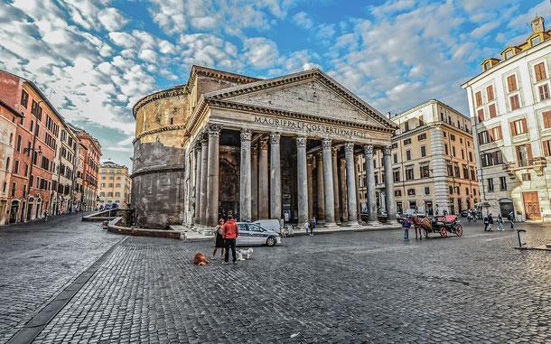 世界遺産「ローマ歴史地区、教皇領とサン・パオロ・フォーリ・レ・ムーラ大聖堂(イタリア/バチカン共通)」、万神殿パンテオン