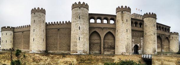 世界遺産「アラゴン州のムデハル様式建造物(スペイン)」、サラゴサのアルハフェリア宮殿