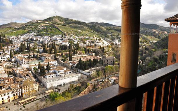 アルハンブラ宮殿から眺めたアルバイシン地区