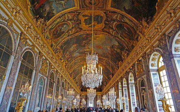 世界遺産「ヴェルサイユの宮殿と庭園(フランス)」、ヴェルサイユ宮殿の鏡の間
