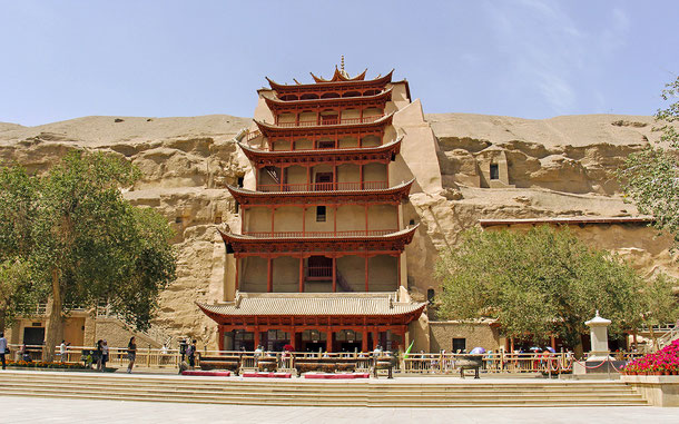 世界遺産「莫高窟(中国)」、第96窟の九層楼