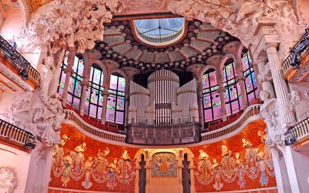 カタルーニャ音楽堂の舞台