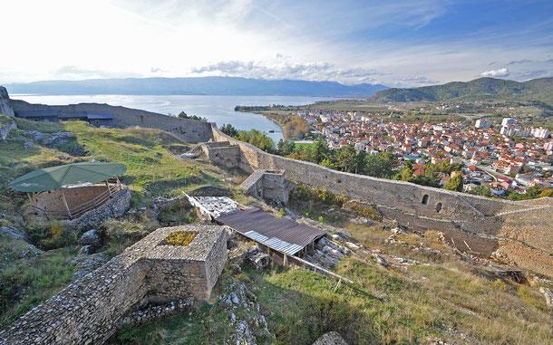 サミュエル城塞から見たオフリドの街並み