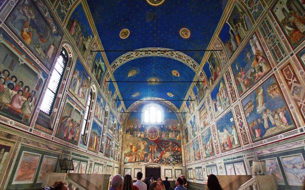 イタリアの新世界遺産候補地「パドウァ・ウルブス・ピクタ:ジョットによるスクロヴェーニ礼拝堂とパドヴァの14世紀のフレスコ画群」のスクロヴェーニ礼拝堂