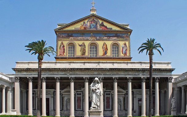 世界遺産「ローマ歴史地区、教皇領とサン・パオロ・フォーリ・レ・ムーラ大聖堂(イタリア/バチカン共通)」、サン・パオロ・フォーリ・レ・ムーラ大聖堂