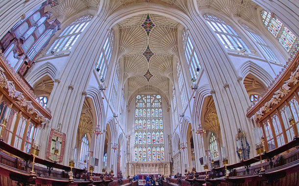 イギリスのエクセター大聖堂