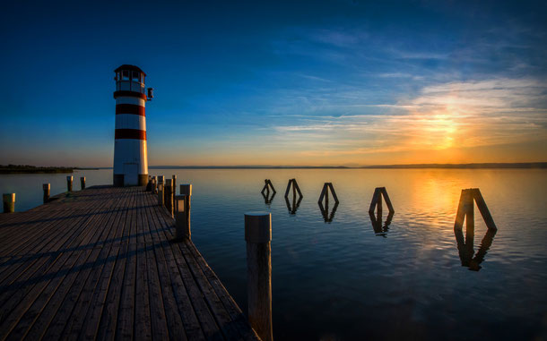 世界遺産「フェルテー湖/ノイジードラー湖の文化的景観」、ポダースドルフ・アム・ゼーのポダースドルフ灯台