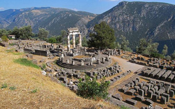 世界遺産「デルフィの考古遺跡(ギリシア)」、円形神殿・トロス