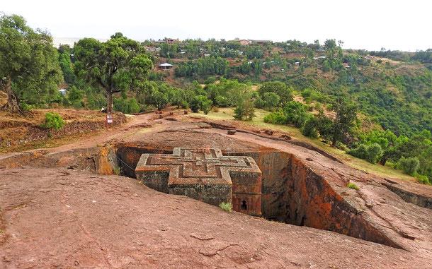 世界遺産「ラリベラの岩窟教会群(エチオピア)」、ラリベラの聖ゲオルギウス教会