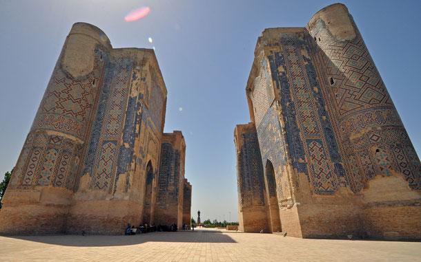 世界遺産「シャフリサブス歴史地区(ウズベキスタン)」、アク・サライ宮殿