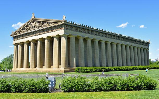 アメリカ・テネシー州、ナッシュビルのパルテノン神殿