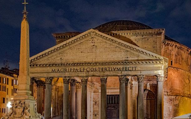 世界遺産「ローマ歴史地区、教皇領とサン・パオロ・フォーリ・レ・ムーラ大聖堂(イタリア/バチカン共通)」、パンテオン