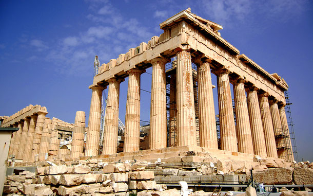 ギリシアの世界遺産「アテネのアクロポリス」、パルテノン神殿