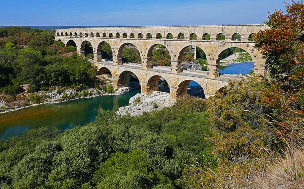 世界遺産「ポン・デュ・ガール[ローマの水道橋](フランス)」。