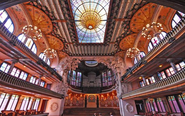 世界遺産「バルセロナのカタルーニャ音楽堂とサン・パウ病院(スペイン)」、カタルーニャ音楽堂