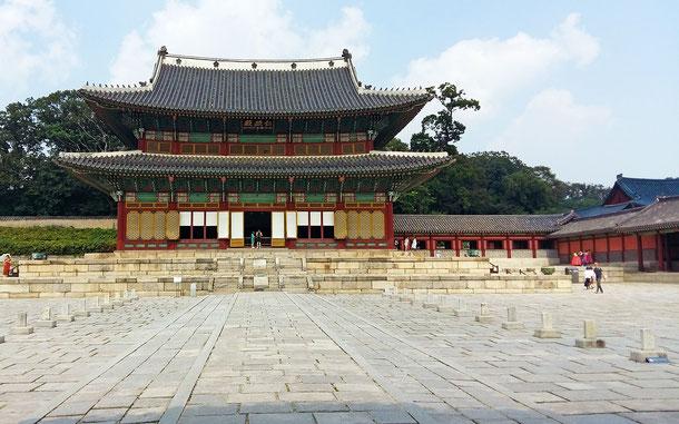 韓国の世界遺産「昌徳宮」の仁政殿