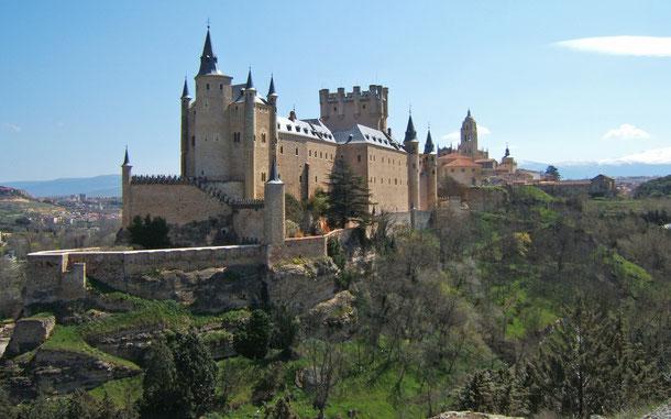 世界遺産「セゴビア旧市街とローマ水道橋(スペイン)」、城塞アルカサル