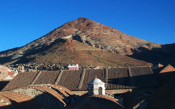 世界遺産「ポトシ市街(ボリビア)」のセロ・リコ銀山