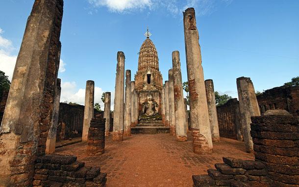 世界遺産「古代都市スコータイと周辺の古代都市群(タイ)」、シーサッチャナーライのワット・プラ・シー・ラタナ・マハタート