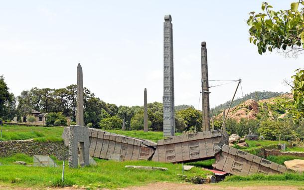 エチオピアの世界遺産「アクスム」のステッレ群