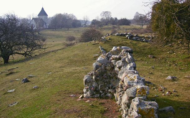 世界遺産「ビルカとホーヴゴーデン(スウェーデン)」、ホーヴゴーデン近郊アデルソンに残る王城跡