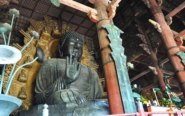 世界遺産「古都奈良の文化財」登録の東大寺盧舎那仏坐像
