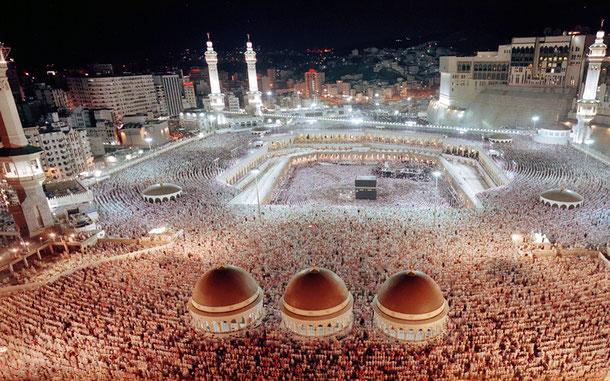 イスラム教第一の聖地メッカのマスジド・ハラーム(ハラーム・モスク)