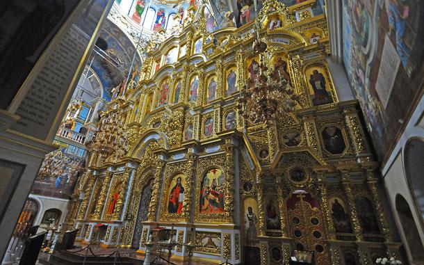世界遺産「キエフ:聖ソフィア大聖堂と関連する修道院建築物群、キエフ・ペチェールスカヤ大修道院」、キエフ・ペチェールスカヤ大修道院、ウスペンスキー大聖堂のイコノスタシス
