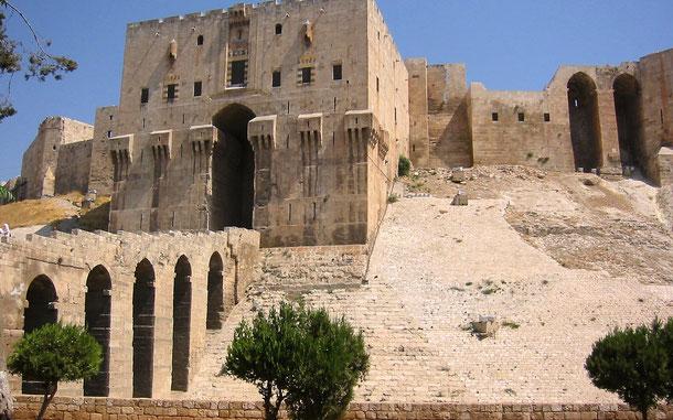 シリアの世界遺産「古都アレッポ」のアレッポ城
