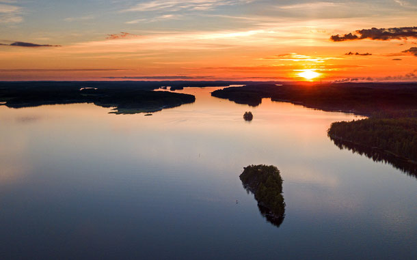フィンランドの「サイマーUGG(ユネスコ世界ジオパーク)」、サイマー湖の景観