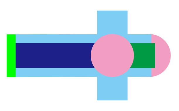 ルネサンス時代のラテン十字形・平面プランの例