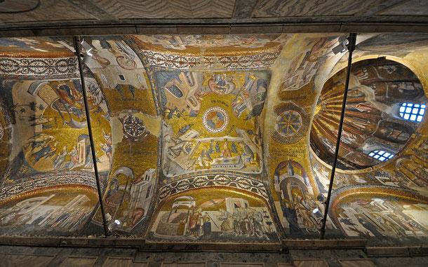 カーリエ博物館、エソナルテックス(内部拝廊)の黄金モザイク画