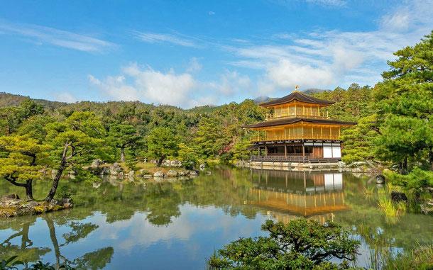 世界遺産「古都奈良の文化財(日本)」、鹿苑寺・舎利殿、金閣