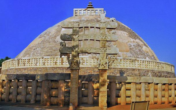 世界遺産「サーンチーの仏教建造物群(インド)」、第1ストゥーパ(グレート・ストゥーパ)