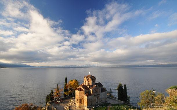 世界遺産「オフリド地域の自然遺産及び文化遺産」の聖ヨヴァン・カネオ聖堂