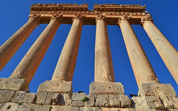 世界遺産「バールベック(レバノン)」、ジュピター神殿に