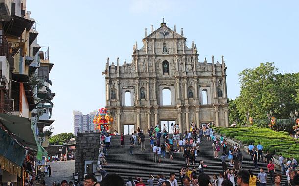 世界遺産「マカオ歴史地区(中国)」、聖ポール天主堂跡