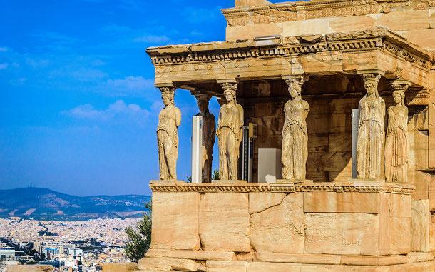 世界遺産「アテネのアクロポリス(ギリシア)」、エレクテイオン・南ポーチのカリアティード