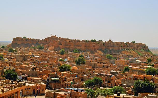 インドの世界遺産「ラジャスタンの丘陵要塞群」のジャイサルメール城