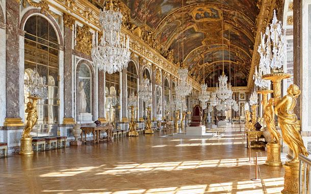 世界遺産「ヴェルサイユの宮殿と庭園」、ヴェルサイユ宮殿、鏡の間
