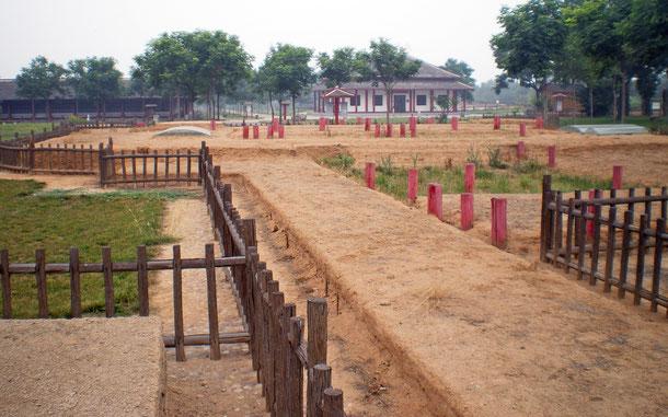 中国の世界遺産「殷墟」、宮殿宗廟遺跡