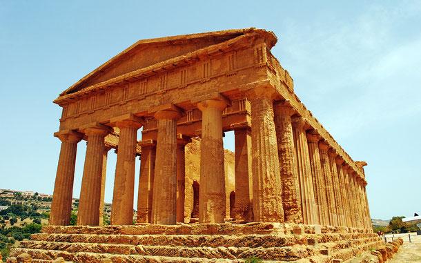 世界遺産「アグリジェントの遺跡地域(イタリア)」、コンコルディア神殿