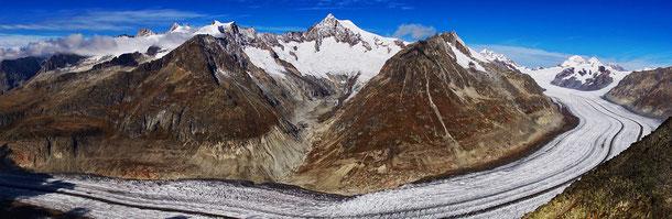 「スイス・アルプス ユングフラウ-アレッチ(スイス)」、アレッチ氷河